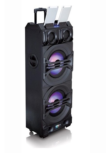 Lenco PMX-350 DJ Mixer Seyyar Ses Sistemi Trolley Speaker Mixer Renkli